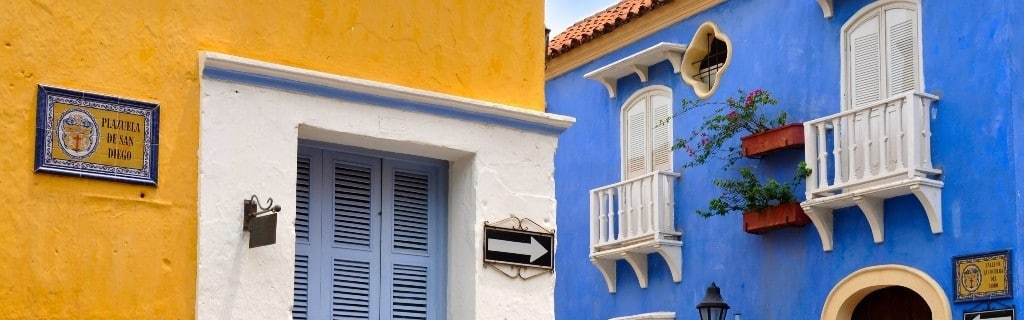 Typical Colonial houses, Old City of Cartagena